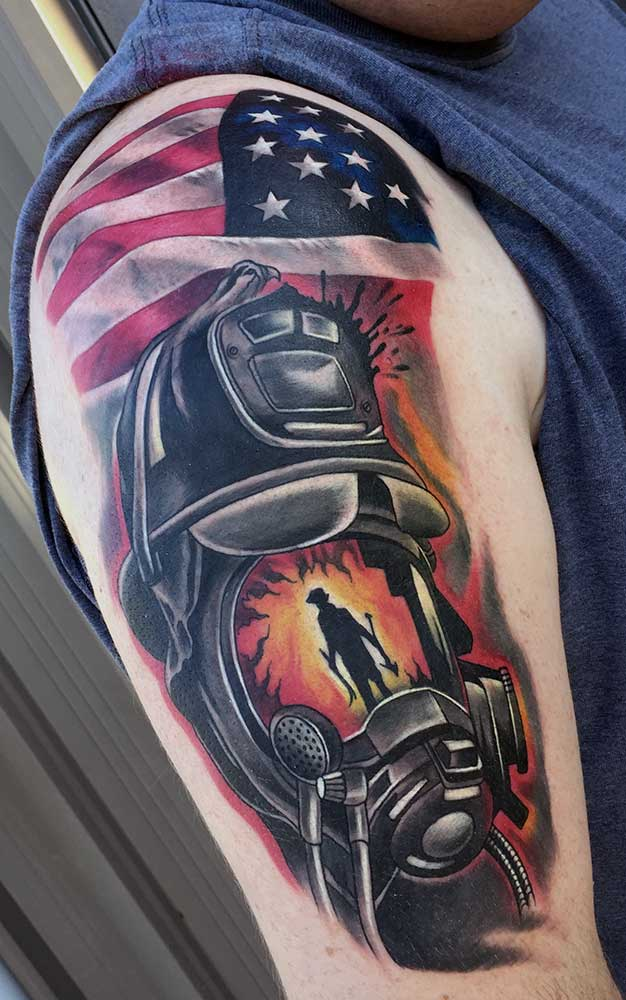 American Flag Tattoo Fayetteville NC