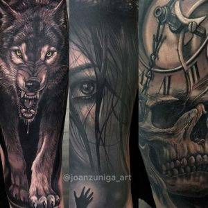 Best Army Black and Grey Realism Tattoos fayetteville NC