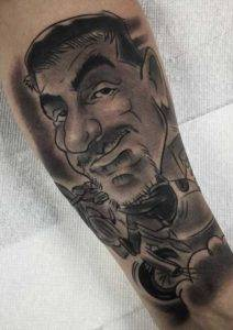 Caricature Black and Gray Tattoo Fayetteville NC