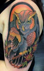 Color Neo Tradiotional Arm Sleeve Tattoo Fayetteville NC