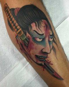 Japanese Samurai Color Tattoos Fayetteville NC