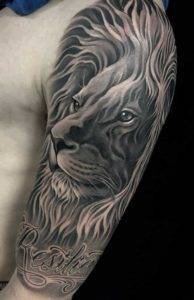 Nearby Tattoo Parlors Lion Black and Grey Fayetteville NC