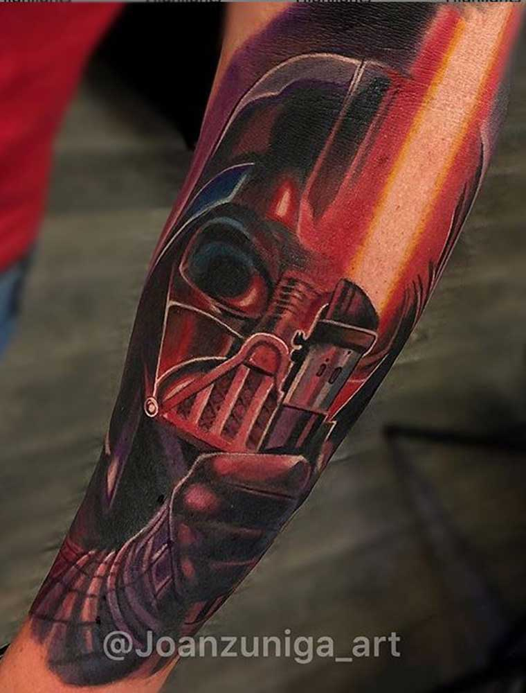Starwars Color Realism Tattoo Fayetteville NC