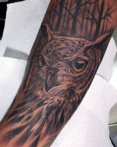 black and gray owl tattoo places near me open