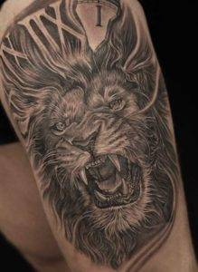 black and grey lion tattoo best tattoo shops fayetteville nc