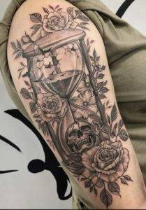 dot work girl arm sleeve excellent tattoo artists near me