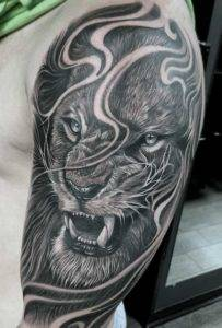 lion best tattoo parlors near me Fayetteville NC