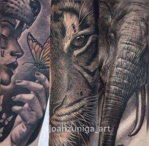 realistic animal portrait best tattoos near me