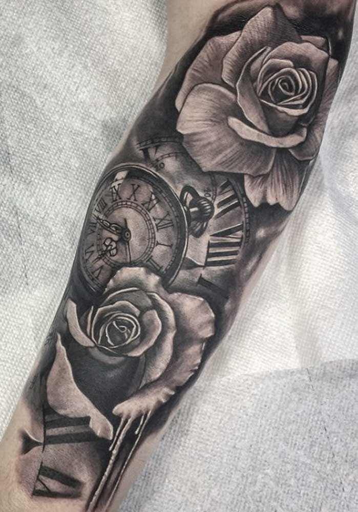 rose tattoo black and gray sleeve fayetteville NC