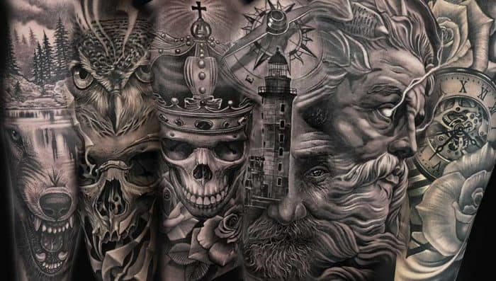 black and grey realism tattoo artists nearby NC